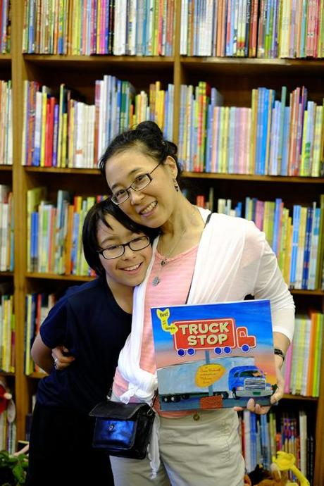 Jamie and me with Truck Stop by Anne Rockwell