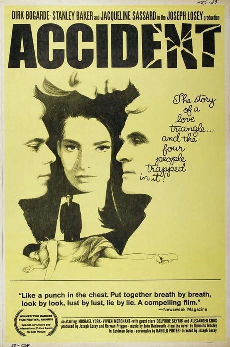 """165. Self-exiled US director Joseph Losey's British masterpiece """"Accident"""" (1967): Atrophy and unhappiness of the educated upper crust"""