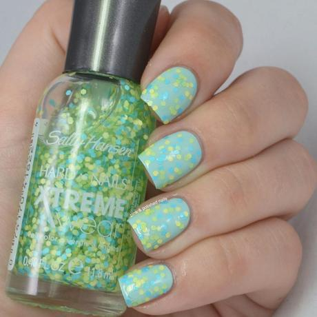 Sally Hansen Hard As Nails Xtreme Wear Rio Collection partial swatches