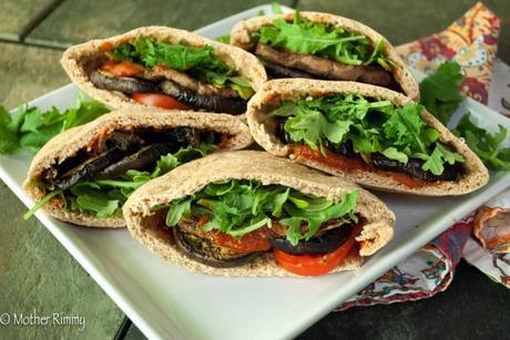 Eggplant Parmesan Pita Pocket Sandwiches