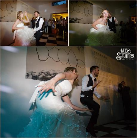 Funny first dance at yorkshire sculpture park wedding