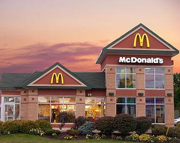 A McDonalds location in Moncton (mountain road...