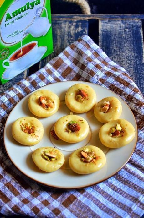 Easy milk peda/dhoodh peda/paal peda recipe | How to make milk peda with condensed milk -Easy method