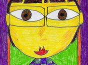 Hundertwasser Style Self Portrait