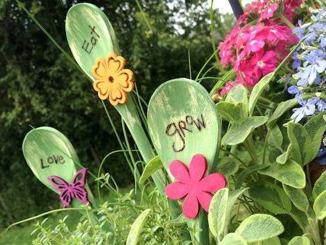 Wooden spoon plant picks (2)