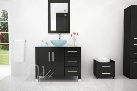 Crater Solid Oak Vanity by JWH Imports