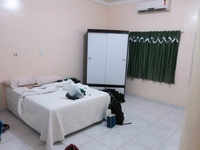 Our cosy room in Hotel Mais, Macapa, Brazil.