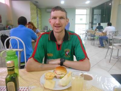 Great breakfast in Hotel Mais, Macapa, Brazil.