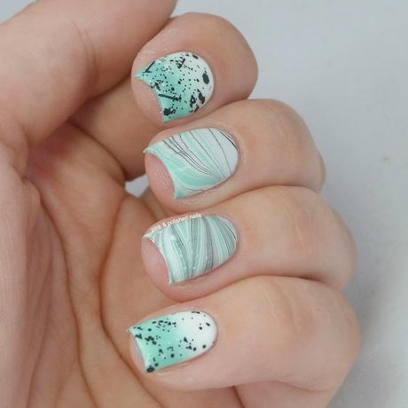 Mint chocolate chip marbled
