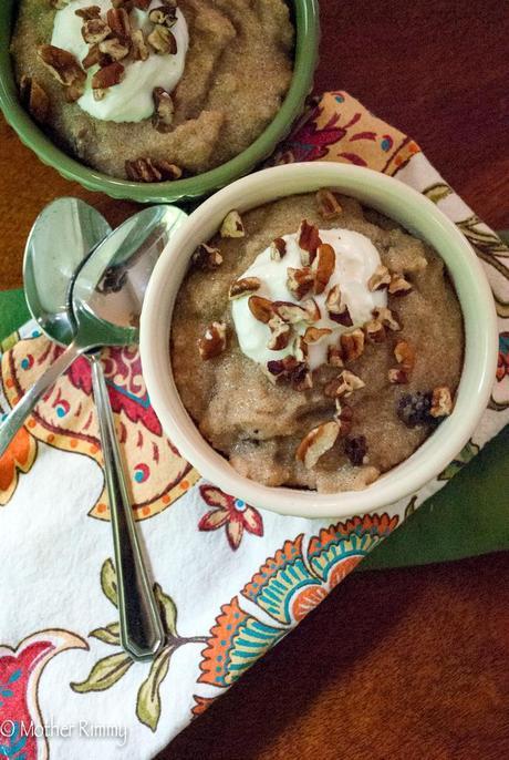 Amaranth Porridge with NuNaturals Vanilla, Cinnamon, Raisins and Pecans