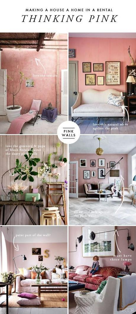 Making A House A Home In A Rental Pink Living Room Paperblog