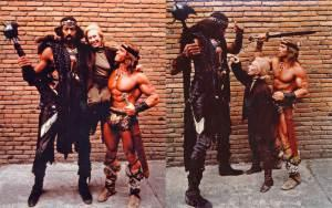 Wilt-Chamberlain-Anne-M.-Strick-and-Arnold-Schwarzenegger-during-the-filming-of-Conan-the-Destroyer