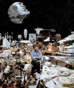 George-Lucas-surrounded-by-Star-Wars-props