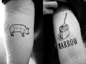 pig marrow tattoo 300x225 Top 10 Best Food Tattoos