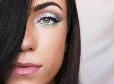 Pastel Makeup Tutorial: Light Lilac And Greenm