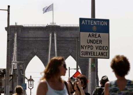 Teens plant white flags atop Brooklyn Bridge
