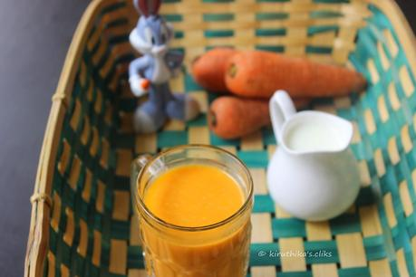 how to prepare carrot juice with milk
