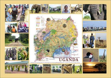 Uganda Conservation Foundation's Map of Uganda