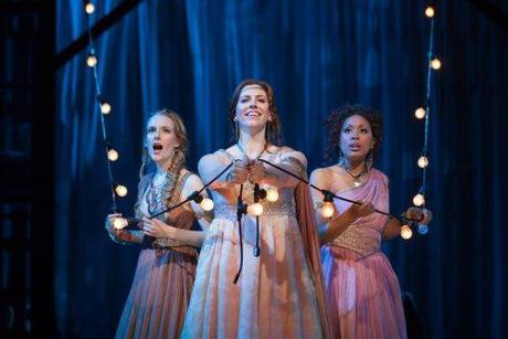 L to R: Jeni Houser as Naiad, Beth Lytwynec as Dryad and Jacqueline Echols as Echo in The Glimmerglass Festival's 2014 production of Strauss'
