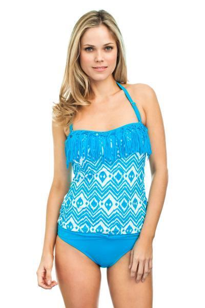 FIND YOUR INNER HAWAIIAN BEACH BABE WITH THIS CUTE TANKINI FROM LEILANI SWIMWEAR. ON SALE NOW