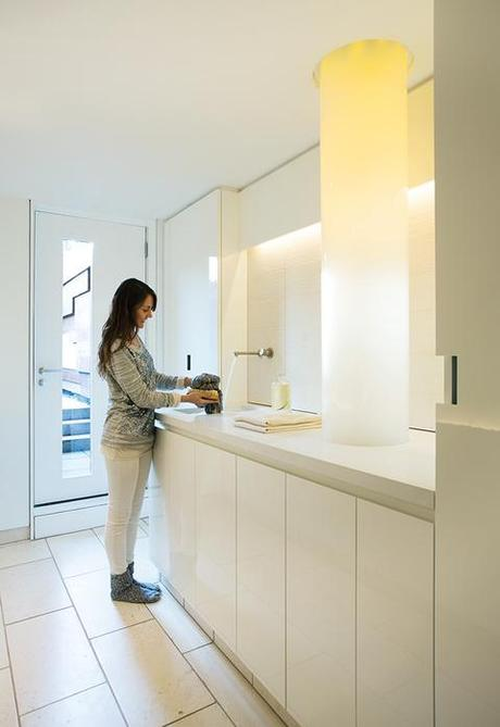 slideshow modern laundry room with fiber optic chute bright modern laundry room