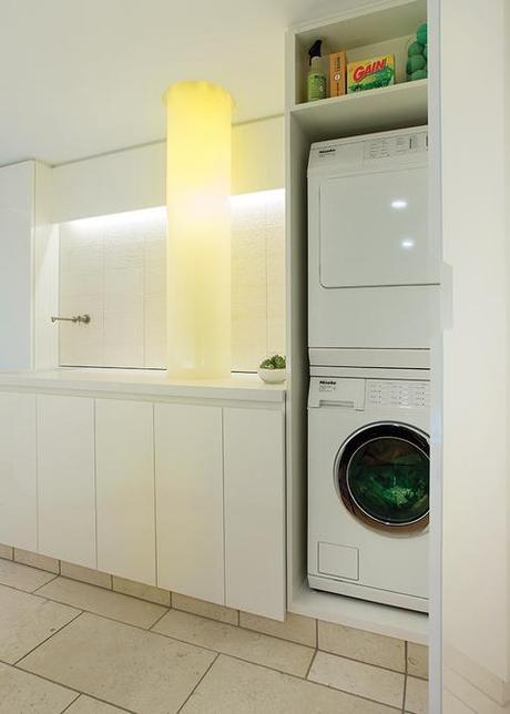 modern laundry room with fiber optic chute bright modern laundry room