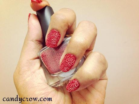 red caviar nails