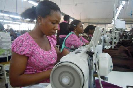 A growing textile industry is among the drivers of Ghana's rapid economic growth in recent years. (Photo: Wall Street Journal.)