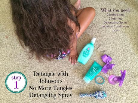 The Braided Bun How-To using Johnson's #NoMoreTangles #ad #latinabloggers