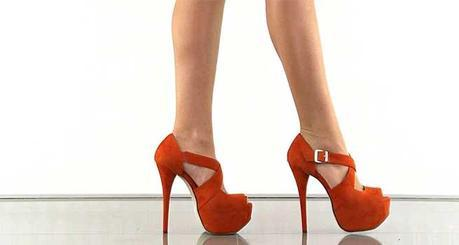 Shoe-Story with Orange Heels