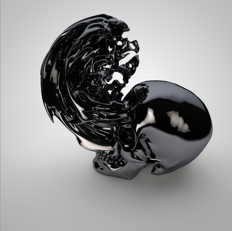 Frederik de Wilde - the blackest black in the world - H.R. Giger would have loved this