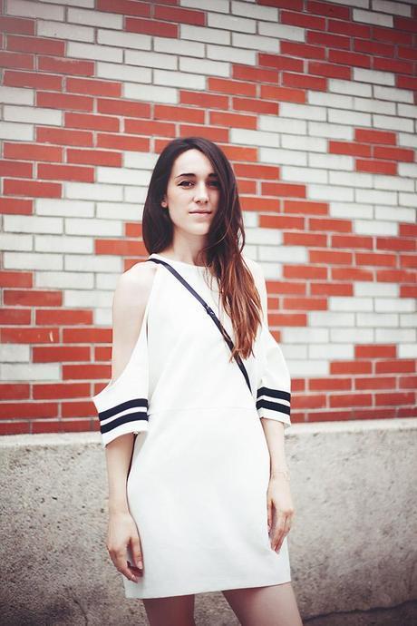 stripe sleeve summer dress
