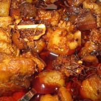 Naga pork curry with dry bamboo shoot
