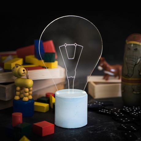 Bulb Lamp // Blue Base