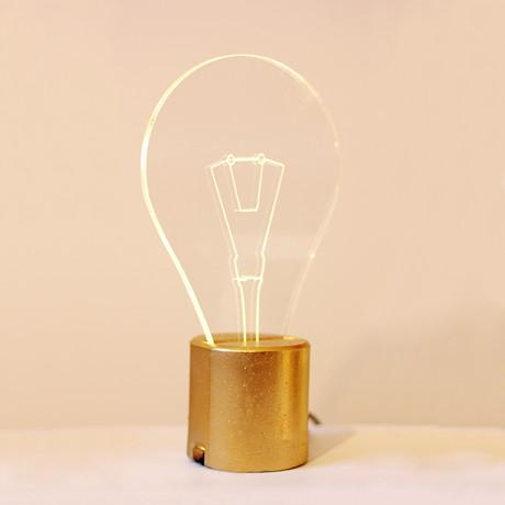 Bulb Lamp // Gold Base