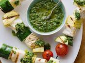 Fish Skewers With Basil Chimichurri Non-Vegetarian