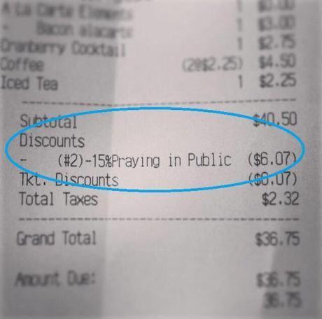 Mary's Gourmet Diner receipt