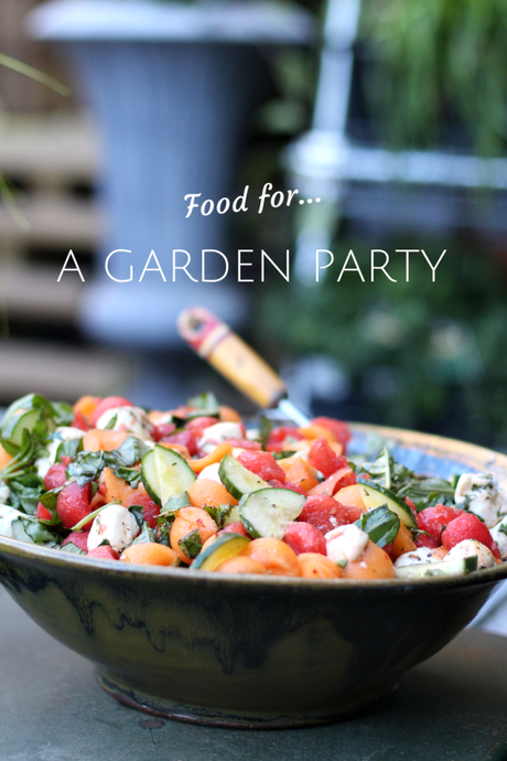 Simple foods for a summer garden party paperblog for Food garden ideas