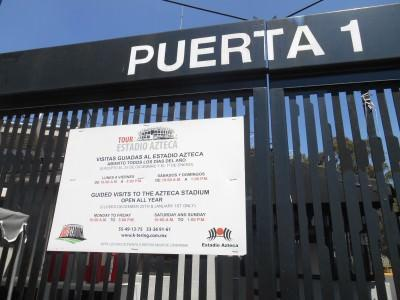 Puerta 1 is the entrance you want.