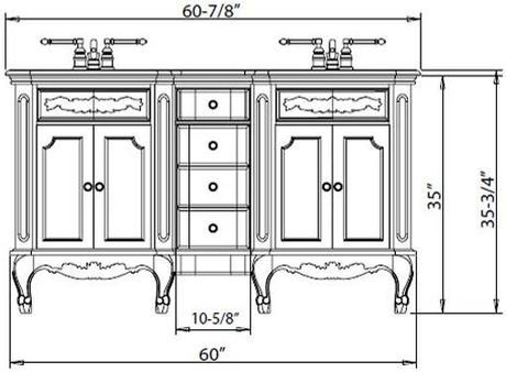 Comfort Height Bathroom Vanities A