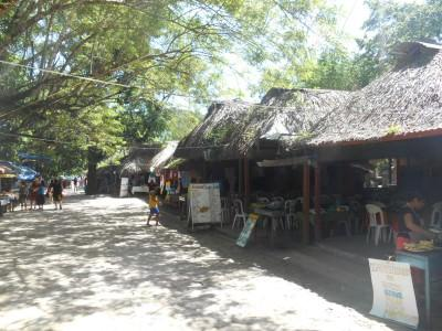 Stalls at Agua Azul - the commercial aspect.