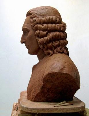 The bust of Carl Linnaeus, in the words of artist Lucie Geffré