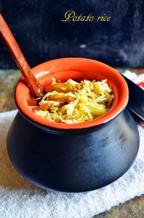 Potato rice recipe,how to make potato rice recipe | Easy potato recipes | Easy lunch box recipes