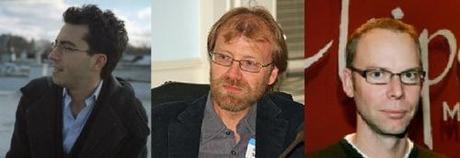 l to r: Jonathan Safran Foer, George Saunders Steve Ells