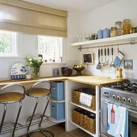 Tiny Colorful Kitchen