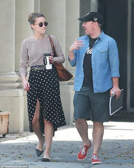 Amber Heard in ca with friend womens fashion mens fashion celebrity fashion