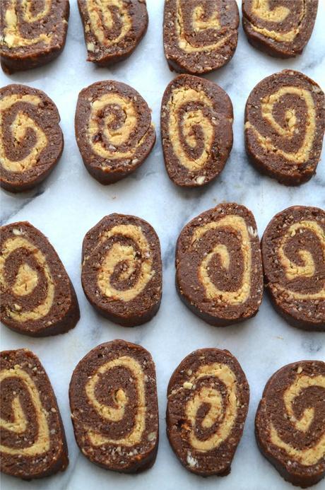 No-Bake Chocolate and Peanut Butter Pinwheels