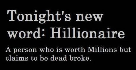 Hillary dead broke