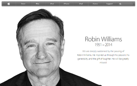 Apple Tribute to Robin Williams