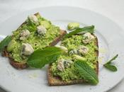 Broad Bean, Mint Sourdough Toasts